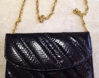 Morle Faux Snakeskin Evening Bag