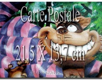 Postcard. Cheshire Cat. Alice in the Wonderland