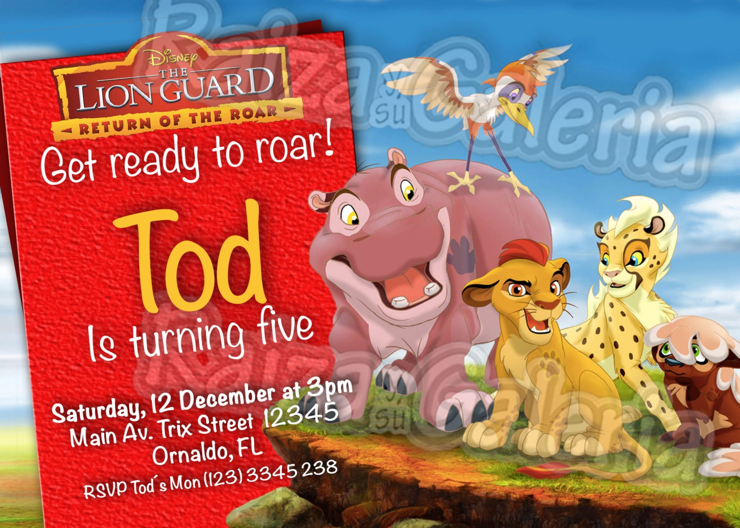 Lion King Invitation with adorable invitation sample