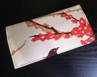 Sparrows in Bark by Joel Dewberry Fabric Checkbook Cover, NEW Handmade FREE SHIPPING