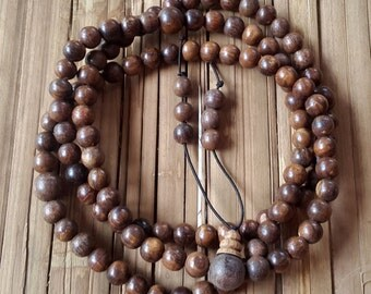 8 MM Gaharu Buaya 108 Beads Japa Mala Agarwood Meditation Prayer Aloeswood
