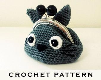 Totoro Crochet Coin Purse PDF Pattern