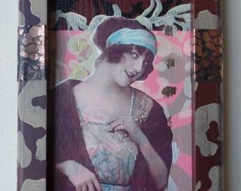 Rita Vintage Photo Collage on Wood