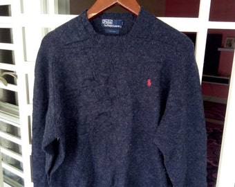ON SALE Vintage Polo knit Wool Sweater