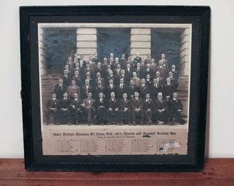 1913 Rite of Freemasonry Picture, Valley of Nashville, Orient of Tennessee, Antique Masonic Picture, Ancient and Accepted Scottish Rite