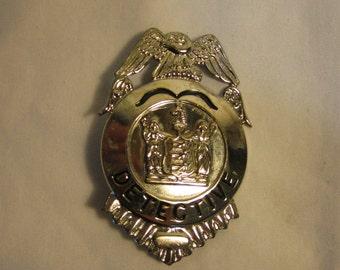 Vintage Police Detective Toy Badge