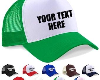 Trucker Cap, Personalised, Custom printed half mesh snapback cap trucker cap