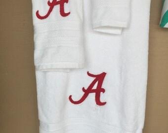 "College "" bama""bath towel sets"
