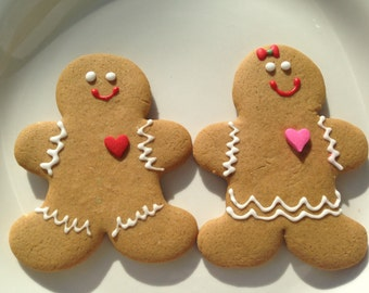 Gingerbread Man Cookies - Gingerbread Cookies- Valentine's Day Cookies