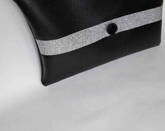 Sequin black pouch