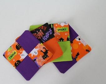 Halloween fabric coasters