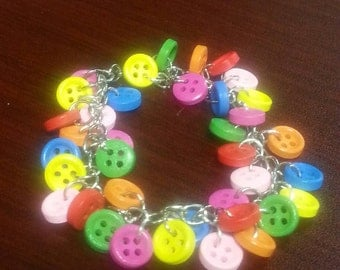 Rainbow Mini Button Bracelet