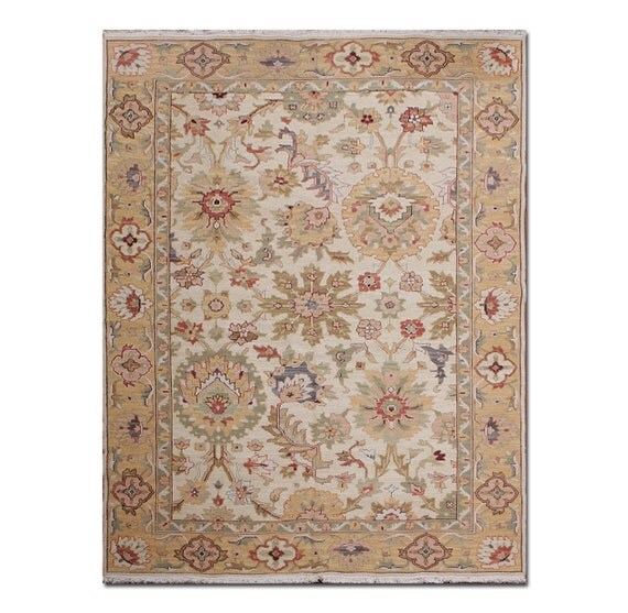 9x12 New Nourison Nourmak Hand Knotted Wool Reversible: 6x9 Hand Knotted Handmade Wool Reversible By
