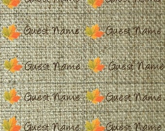 Thanksgiving Name Tags with leaves