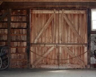 Old Barn Doors Photograph
