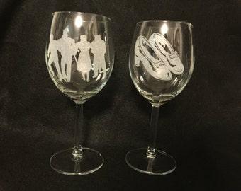 Wizard of Oz wine glasses