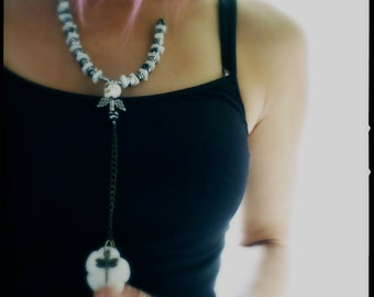 White Skull Charm necklace