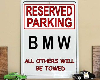 Bmw Sign Etsy - Bmw parking only signs
