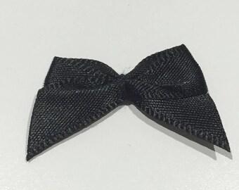 40 single sided satin black lolita bows