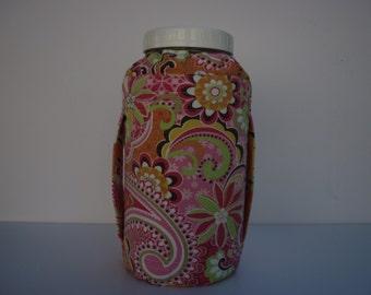 Half gallon jar cozy/64oz. Ball canning jar cover/Raw milk/kombucha/juice/water/Fermenting/Sprouting/100% cotton