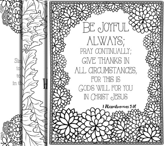 3 Bible Verse Coloring Pages Thanksgiving