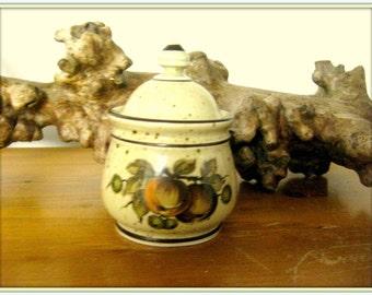 Antique German storage BOX WINTERLING coffee pot retro fruits Bavaria ceramic