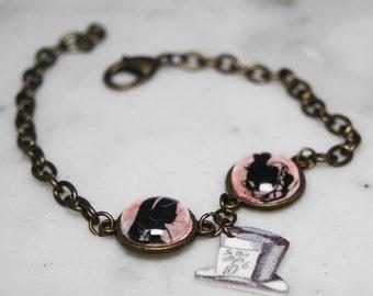 Alice In Wonderland silhouette bracelet