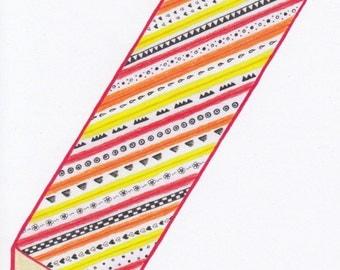 Card Pencil - A6 Postcard.