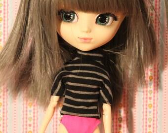 Striped T-shirt for all 1/6 Dolls barbie,  skipper,  dal, pullip, blythe, momoko, licca, azone pure nemo