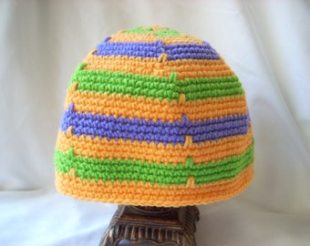 Crocheted Hats for Adults, Adult, Men's, Woman's Winter Crochet Hat, Colorful Striped Hat, Man's Winter Beanie, Woman's Winter Hat