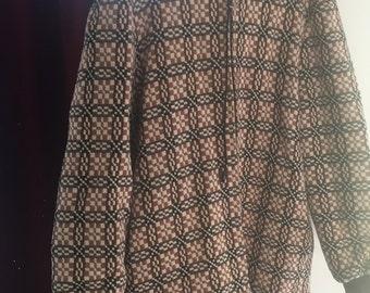 Vintage 1970's Welsh wool tapestry coat