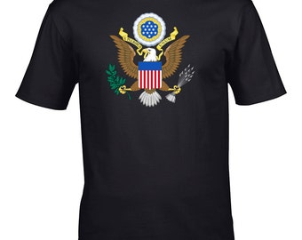 AMERICAN EAGLE-bird of united states Men's T-Shirt from Fat Cuckoo - MTS1143