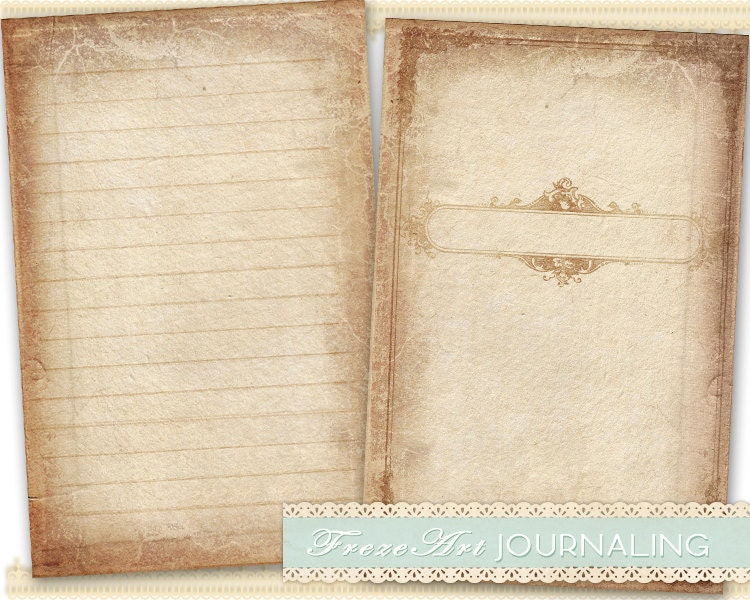 Journal Pages Diary Pages printable paper craft journaling art on – Diary Paper Printable