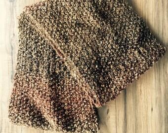 Brown scarf - infinity scarf - knit infinity scarf - knit scarf - chunky scarf