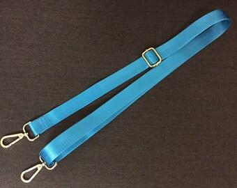 """Light Blue Nylon Strap for Bag 1"""" Wide Cross Body Strap"""