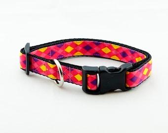 Pink Argyle Dog Collar