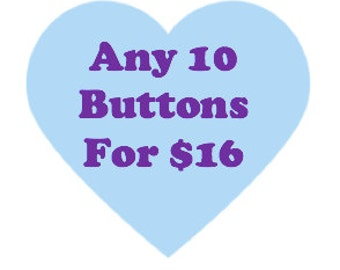 Button deal - Ten 1.25 inch buttons - Feminist button deal
