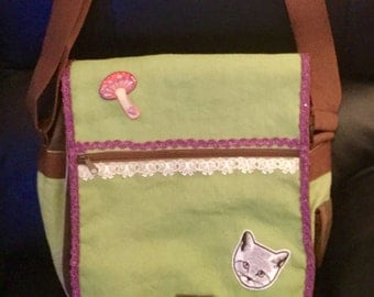 A Redesigned  Messenger or Shoulder Bag, with a small matching Insert bag