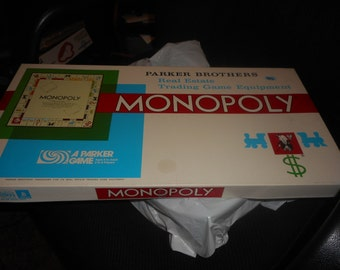 ON SALE Vintage Monopoly Game Parker Brothers