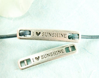I love sunshine  Metal Labels Connectors #3542
