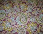 Plum Paisley Fabric...