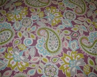 Plum Paisley Fabric