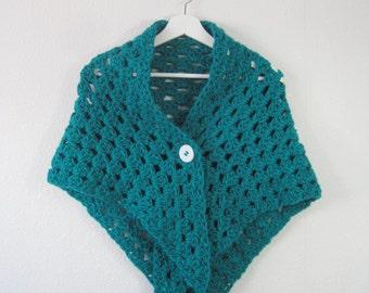 Handmade crochet little scarf, shawl  or poncho to keep you warm