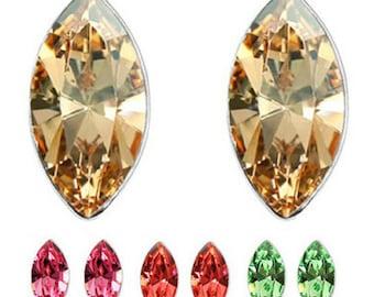 Marquis Austrian Crystal Stud Earrings
