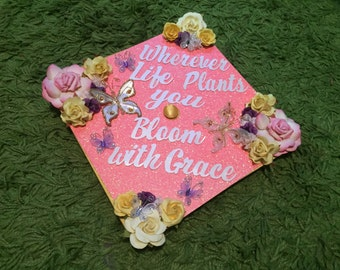 Graduation Cap Decor - colors can be changed and theme as well