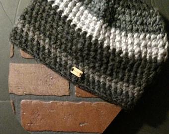 Grey stripes beanie