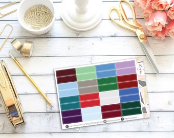 Winter Coloured Label Stickers || 32 Planner Stickers