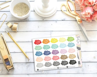 Nap Time Stickers || 25 Planner Stickers