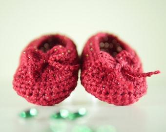 shoe baby crochet Wizard of OZ