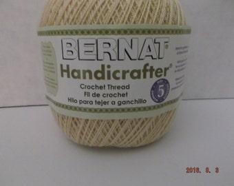 Bernat Handicrafter Crochet Thread ~ Size 5 ~ Crisp Linen ~ 3 oz ~ 371 Yards